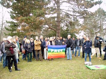 Bild: Kundgebung auf dem Wartberg gegen den rechtsextremen FHD
