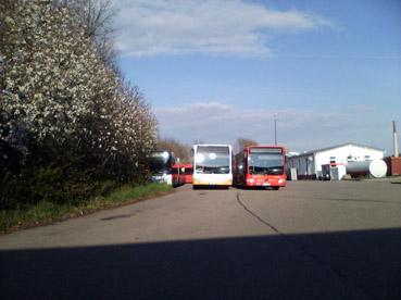 Bild: Busdepot der RVS in Pforzheim - neue Eigentümerin der Stadtbusse