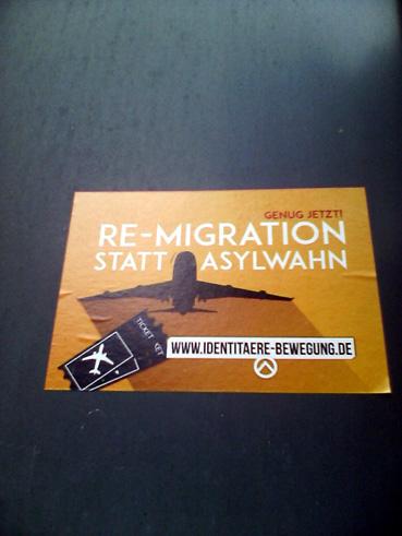 Bild: Auch in Pforzheim aktiv - z.B. die identitäre Bewegung (Päpper in Dillweissenstein)