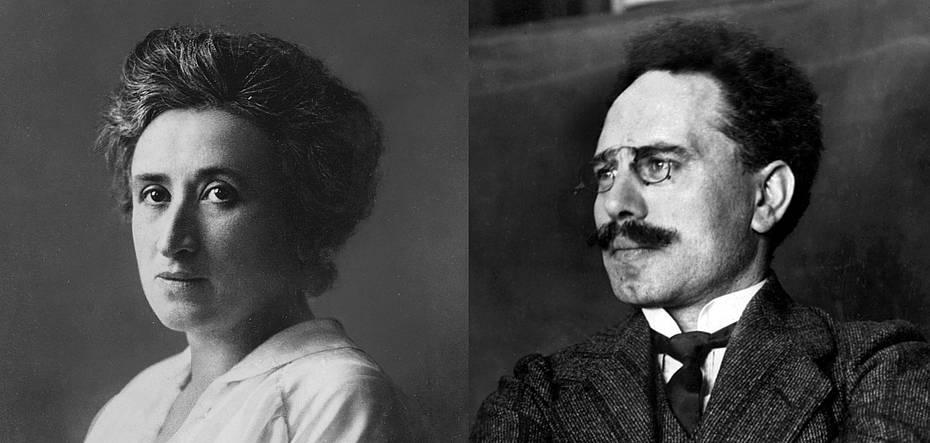 Bild: Gedenken an die beiden ermordeten Arbeiterführer Rosa Luxemburg und Karl Liebknecht