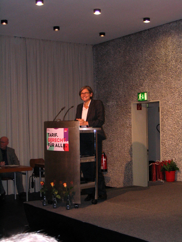 Bild: Christiane Benner bei ihrer Rede beim DGB-Neujahrsempfang 2020 in Pforzheim