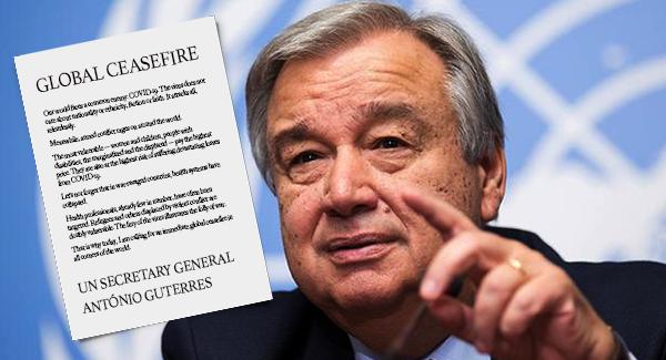 Bild: UN-Chef Antonio Guterres ruft wegen der Coronapandemie zur Beendigung bewaffneter Konflikte auf..