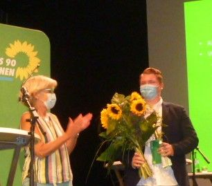 Bild: v.l.:  Elisabeth Vogt und Felix Herkens  (Foto: Grüne)