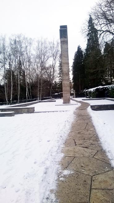 Bild: Digitales Gedenken an die Opfer des Luftangriffs  vom 23.02.45 , hier Foto vom Großkreuz auf dem Hauptfriedhof (Foto: Ron)