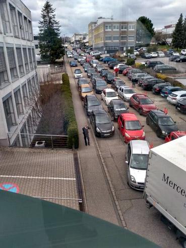 Bild: Autocorso von Birkenfeld nach Pforzheim für die Tarifforderungen der IG Metall im Tarifkonflikt  2021  (Foto: IG Metall Pforzheim)