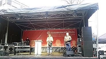 Bild: Zusammenhalten war das Motto bei einer Kundgebung in Pforzheim am 9.12. 2020