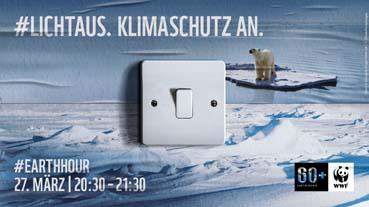 Bild: Earth Hour am 27.3.2021 um 20:30 Uhr. Quelle: WWF Deutschland