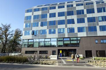 Bild: Gebäudetrakt Wirtschaftsuniversität  Wien (Foto. Wu wien)