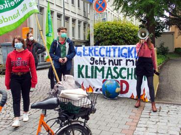 Bild: Aktion in Freiburg (Foto:FFF)