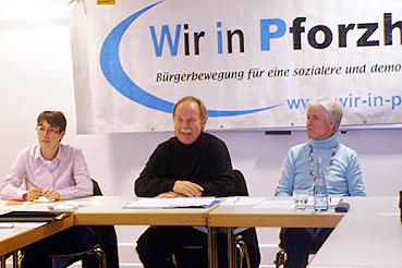 Bild: v.l.: Melanie Rechkemmer (ver.di), Wolfgang Schulz (WiP), Sonja Widmaier