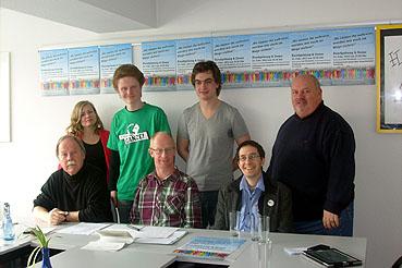 Bild: IGR (v.l.): Stadtrat  Wolfgang Schulz (WiP), Katrin, Johannes, Kai, Stadtrat Christoph Weisenbacher, Dr. Ralph Fuhrmann