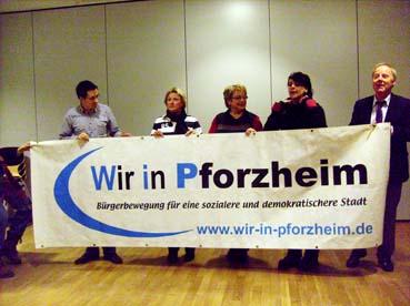 Bild: v.l..: Christof Weisenbacher, Stadtrat, Kerstin M�ller, Britta Schulze, Sarah Kie�, Wolfgang Schulz, Stadtrat