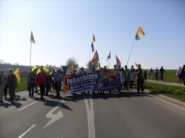 Bild: Viele tausend Menschen demonstrierten für sofortige Abschaltung der Atomanlagen (Foto: RN)