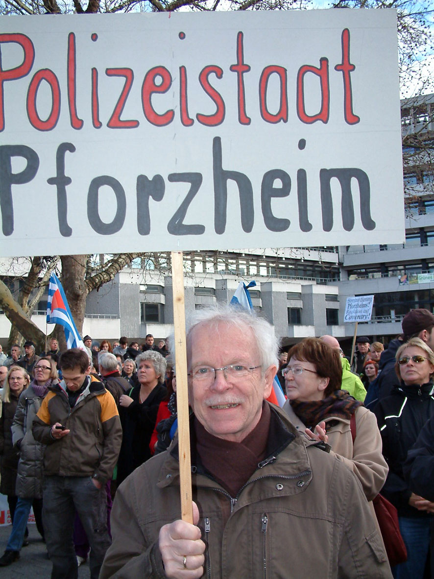 Bild: B�rger-Protest gegen die Obrigkeit...