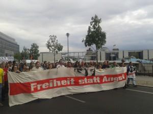 Bild: Demozug durch Berlin