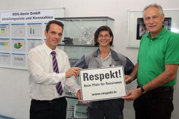 Bild: Von links nach rechts Jochen Lindner, Elisabeth J�ger, Martin Kunzman