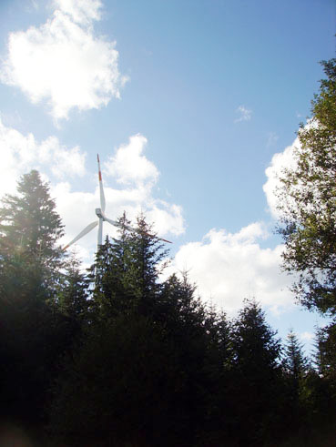 Bild: Windpark Simmersfeld nicht immer aktiv..