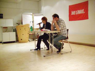 Bild: v.l.: Petra Pau. Milan Kopriva (Die Linke)