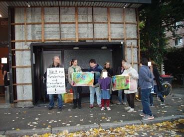 Bild: Nur eine kleine Minderheit demonstrierte am 31.10,. gegen die AFD-Veranstaltung